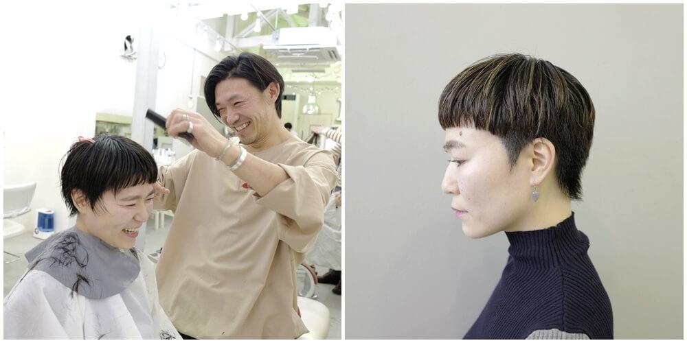 山口大介さんが美容室で提供するヘアスタイルの一例